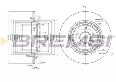 Задний тормозной диск на Мерседес М класс 'BREMSI DBB099S'.