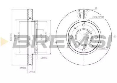 Вентилируемый передний тормозной диск на Смарт Фор фор 'BREMSI DBB621V'.