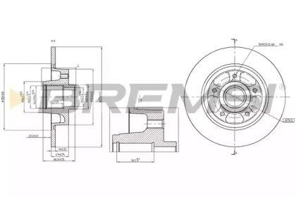 Задний тормозной диск на Рено Флюенс 'BREMSI DBB731S'.