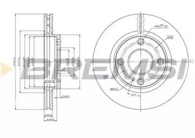 Вентилируемый передний тормозной диск на Опель Инсигния 'BREMSI DBB740V'.