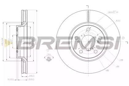 Вентилируемый передний тормозной диск на TOYOTA VERSO 'BREMSI DBB756V'.