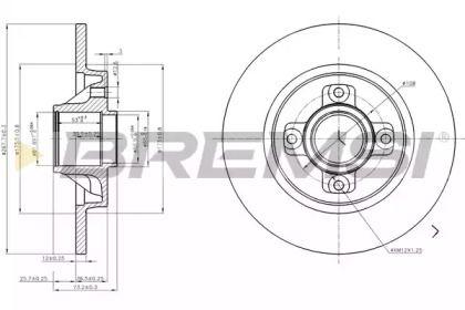 Задний тормозной диск на Опель Инсигния 'BREMSI DBB791S'.