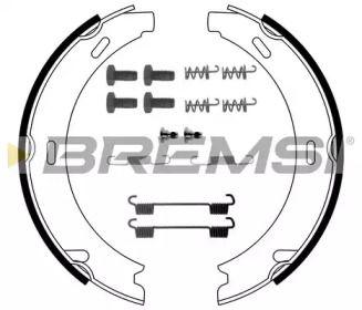 Тормозные колодки ручника 'BREMSI GF0302-1'.