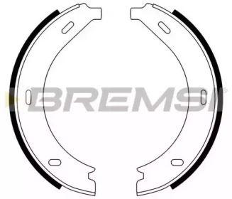 Гальмівні колодки ручника 'BREMSI GF0305'.