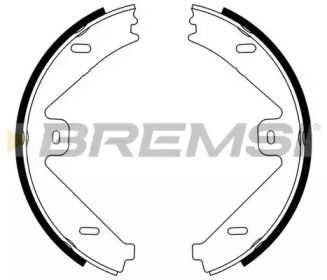 Гальмівні колодки ручника на Mercedes-Benz GLK  BREMSI GF0319.
