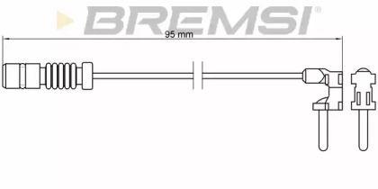 Датчик зносу гальмівних колодок 'BREMSI WI0501'.