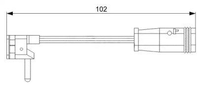 Датчик зносу гальмівних колодок BREMSI WI0599.