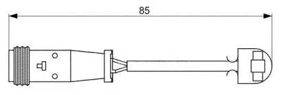 Датчик зносу гальмівних колодок BREMSI WI0653.