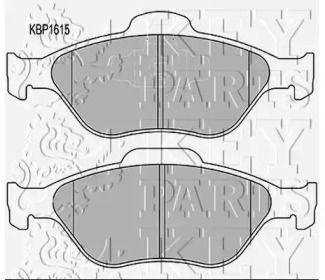 Тормозные колодки 'KEY PARTS KBP1615'.