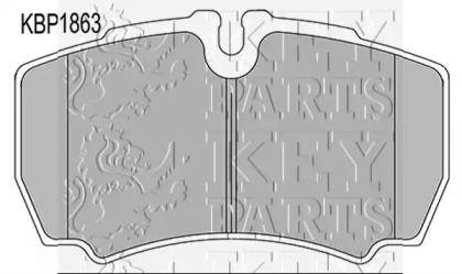 Гальмівні колодки 'KEY PARTS KBP1863'.