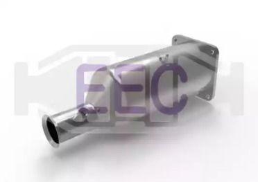 Сажі / частковий фільтр, система вихлопу ОГ 'EEC DPF070'.