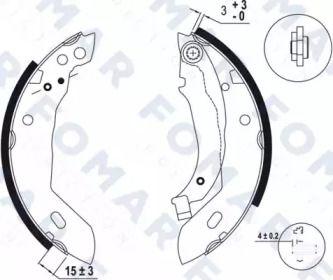 Барабанні гальмівні колодки FOMAR FRICTION FO 0415.