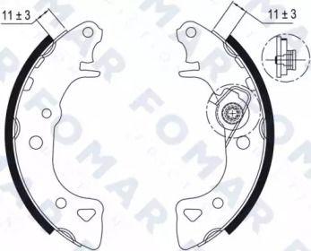 Барабанні гальмівні колодки FOMAR FRICTION FO 0429.