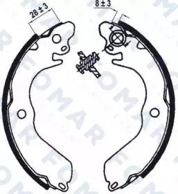 Барабанні гальмівні колодки FOMAR FRICTION FO 0568.