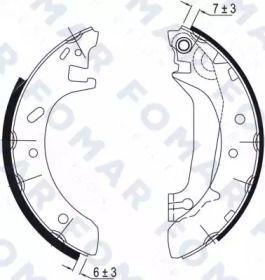 Барабанные тормозные колодки 'FOMAR FRICTION FO 0580'.