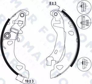Барабанні гальмівні колодки FOMAR FRICTION FO 0585.