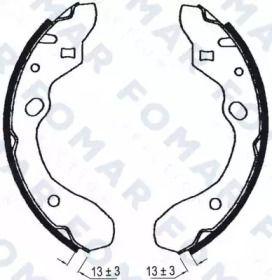 Барабанні гальмівні колодки на Мазда МХ3  FOMAR FRICTION FO 0603.