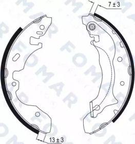 Барабанные тормозные колодки 'FOMAR FRICTION FO 9025'.