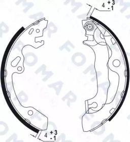 Барабанні гальмівні колодки FOMAR FRICTION FO 9053.