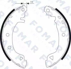 Барабанні гальмівні колодки FOMAR FRICTION FO 9076.