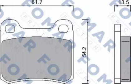 Гальмівні колодки 'FOMAR FRICTION FO 421381'.
