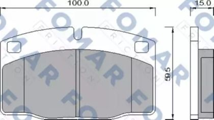 Гальмівні колодки 'FOMAR FRICTION FO 426981'.