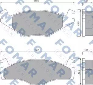 Гальмівні колодки 'FOMAR FRICTION FO 436681'.