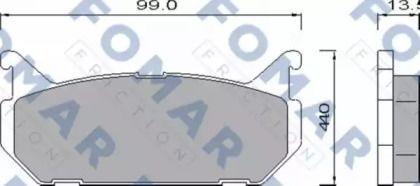 Гальмівні колодки на MAZDA MX-6 'FOMAR FRICTION FO 455181'.