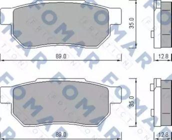 Тормозные колодки 'FOMAR FRICTION FO 456381'.