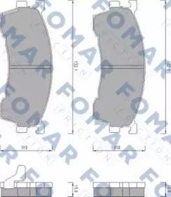 Гальмівні колодки на MAZDA XEDOS 6 FOMAR FRICTION FO 459481.