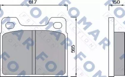 Гальмівні колодки 'FOMAR FRICTION FO 460285'.