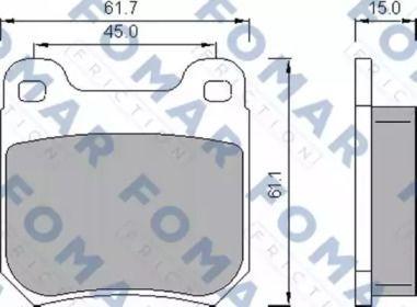Гальмівні колодки 'FOMAR FRICTION FO 468781'.