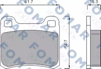 Гальмівні колодки 'FOMAR FRICTION FO 474185'.