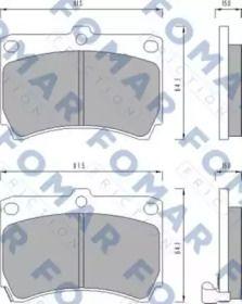 Гальмівні колодки на MAZDA DEMIO FOMAR FRICTION FO 477481.