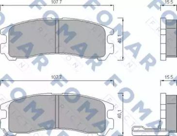 Гальмівні колодки FOMAR FRICTION FO 479481.