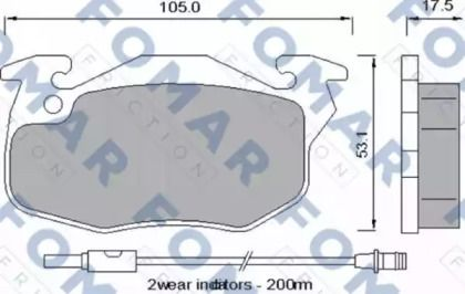 Гальмівні колодки 'FOMAR FRICTION FO 529481'.