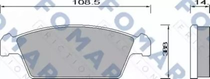 Гальмівні колодки 'FOMAR FRICTION FO 644281'.