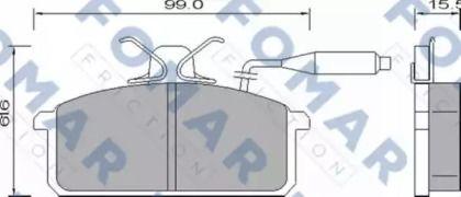 Тормозные колодки 'FOMAR FRICTION FO 654781'.