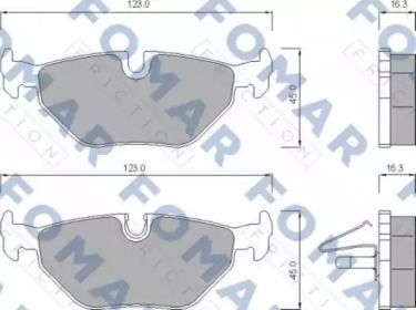 Гальмівні колодки FOMAR FRICTION FO 672781.
