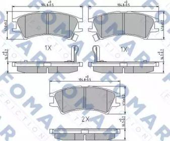 Гальмівні колодки 'FOMAR FRICTION FO 673681'.