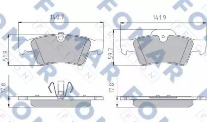 Гальмівні колодки на Мерседес Гл Клас  FOMAR FRICTION FO 859681.