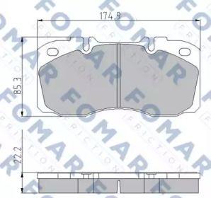 Тормозные колодки 'FOMAR FRICTION FO 870281'.