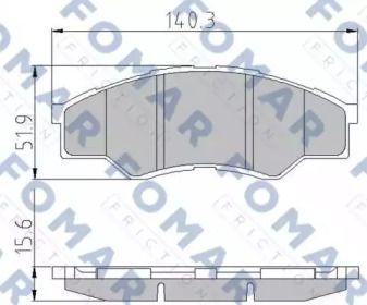 Тормозные колодки 'FOMAR FRICTION FO 872581'.