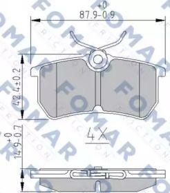 Гальмівні колодки FOMAR FRICTION FO 892481.