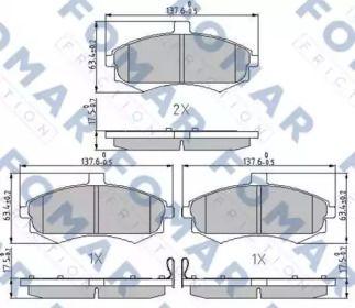 Тормозные колодки 'FOMAR FRICTION FO 899581'.