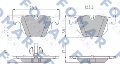 Тормозные колодки 'FOMAR FRICTION FO 930181'.
