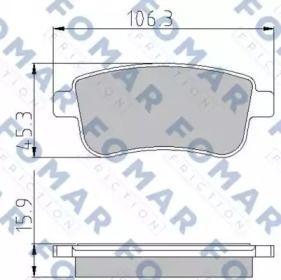 Гальмівні колодки FOMAR FRICTION FO 931581.