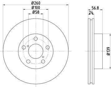 Вентилируемый тормозной диск NISSHINBO ND7005.