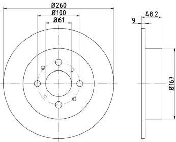 Тормозной диск NISSHINBO ND8009K.