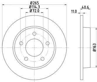 Тормозной диск NISSHINBO ND5008K.